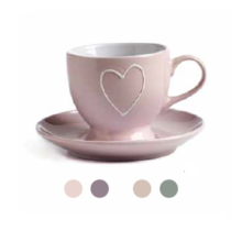 NEAVITA <br> SET DUE TAZZINE HEART con PIATTINO
