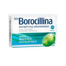 NEOBOROCILLINA</BR> MENTOLO E EUCALIPTLO</br> 20 PASTIGLIE